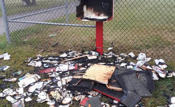 Hanna Posselt posted this photo on Facebook of a new outdoor library book exchange on 17th Avenue by Ron Brent Elementary which had obviously been hit by vandals. Facebook photo