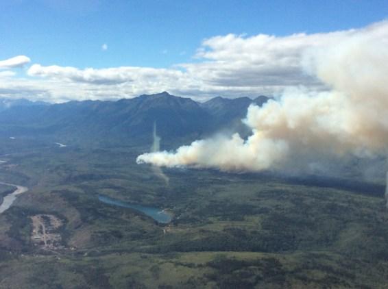 Alakali Lake fire near Telegraph Creek. BC Wildfire Service photo