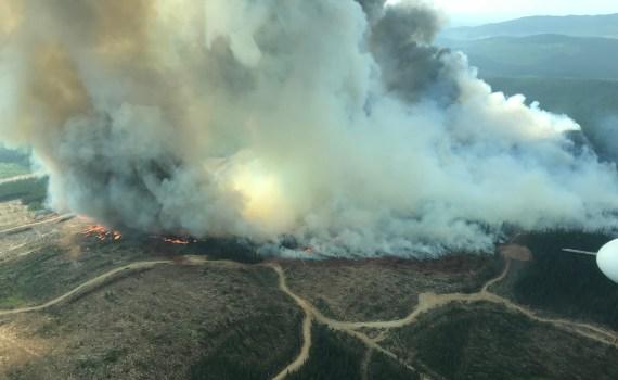 The Chutanli Lake fire. B.C. Wildfire Service photo
