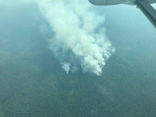 Fire near Lang Lake. BC Wildfire Service photo