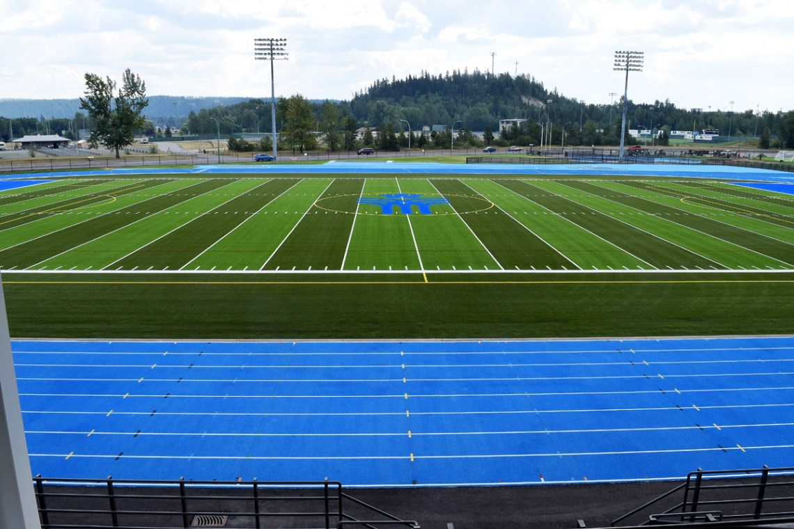 View from the top. The top of the bleachers provides a spectacular view of the newly-refurbished Masich Place Stadium, which re-opens Tuesday. Bill Phillips photo