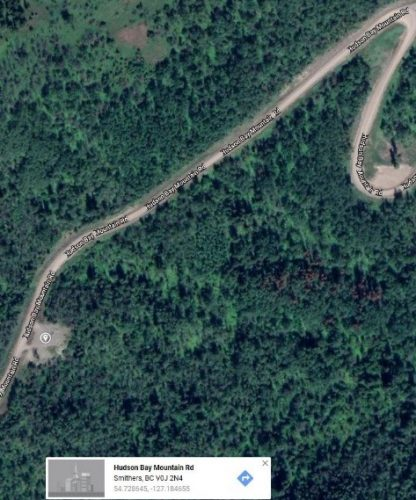 Aerial photo of pullout where Jessica Patrick's body was found.