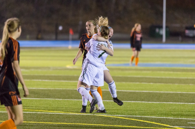University of Northern British Columbia Timberwolves  women's soccer team needed a victory Friday night and they got one. James Doyle photo