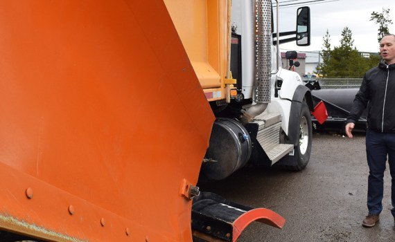 Blake McIntosh, the city's Manager of Roads and Fleet, says road crews are ready for snow. Bill Phillips photo