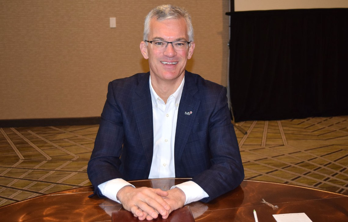 Michael Denham, President and CEO of Business Development Canada, was in Prince George last week. Bill Phillips photo