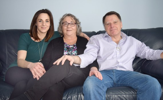 Rick and Noreen Woodford with their daughter Suzanne talk about the decision to donate Matthew Woodford's organs. Bill Phillips photo