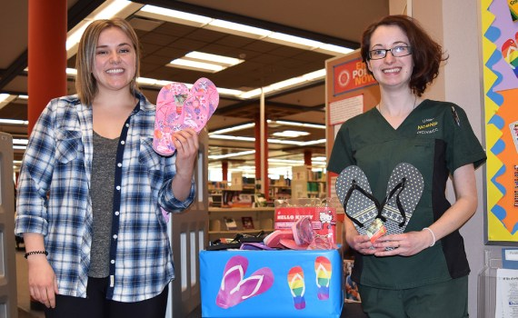 CNC nursing students Maria Christie (left) and Michaela Fedoruk will be doing a five-week practicum in India this spring. Bill Phillips photo
