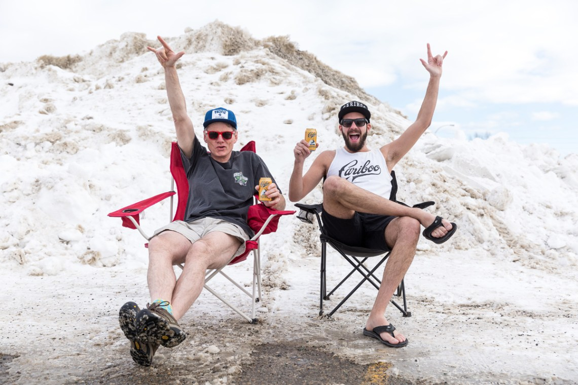CN Centre general manager Glen Mikkelsen and Pacific Western Brewing's Kyle Sampson are ready for Cariboo Rocks the North ... even if the weather isn't.