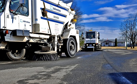 Sweeping operations should begin on-schedule in April and take several weeks to complete depending upon factors including weather and the availability of resources.
