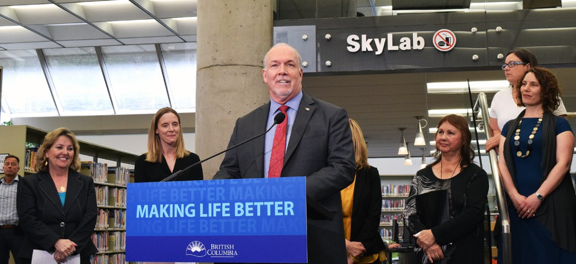 Premier John Horgan announces that an urgent care centre will open in Prince George by June. Bill Phillips photo