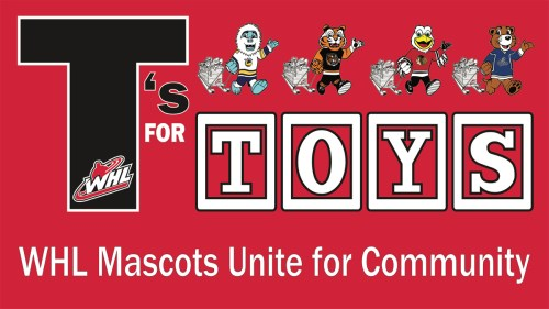 WHL launches T's For Toys campaign to raise funds for children during the holidays