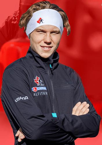 Biathlete Liam Connon takes aim in Austria