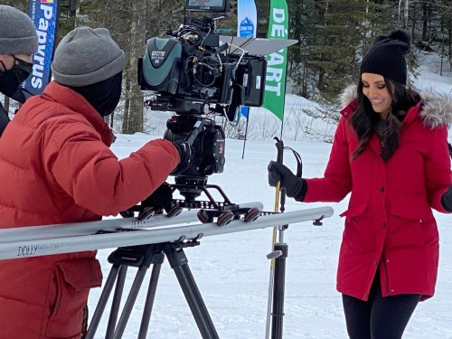 Christmas in March: Prince George hosts film production