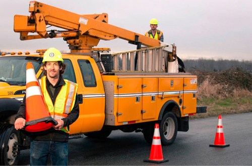 Slow down and pay attention in cone zones