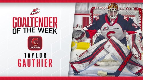 WHL names Taylor Gauthier as goaltender of the week