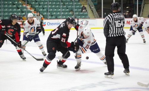 Cougars outlast Blazers in a 7-6 shootout win Saturday