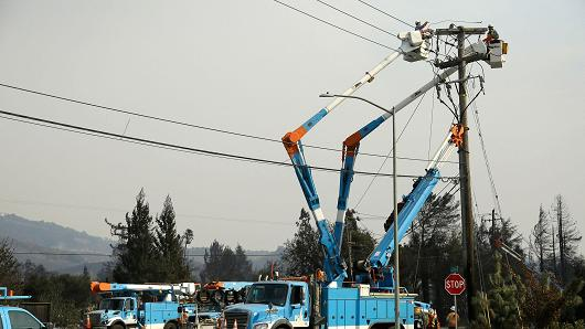 CNBC: PG&E shares plunge on concern its power lines may have started California wildfires