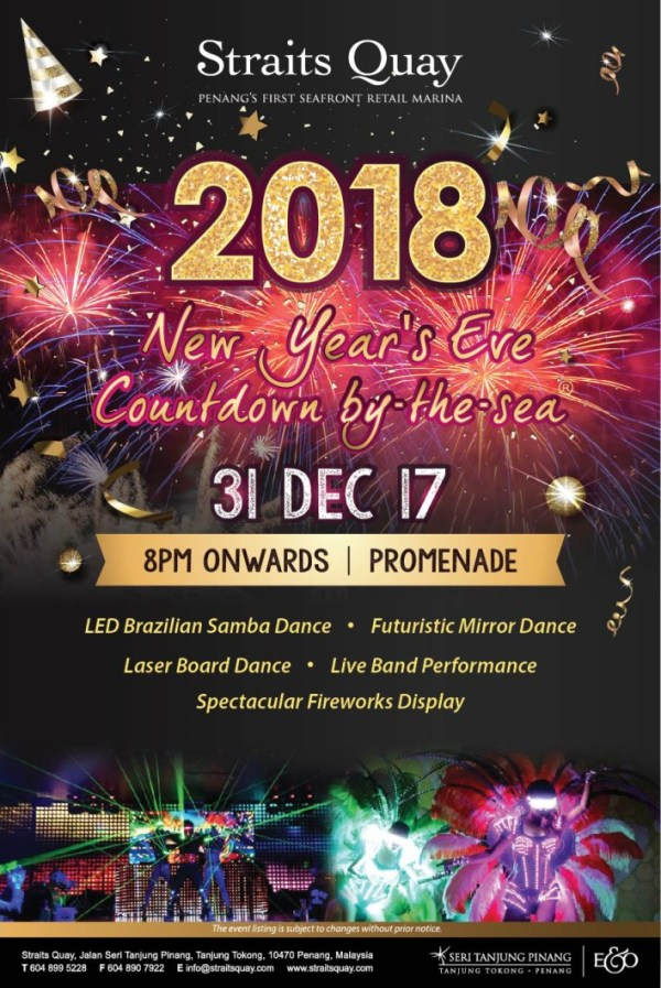Countdown to 2018 at Straits Quay