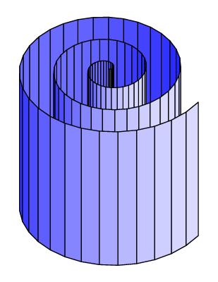 Cylindric spiral