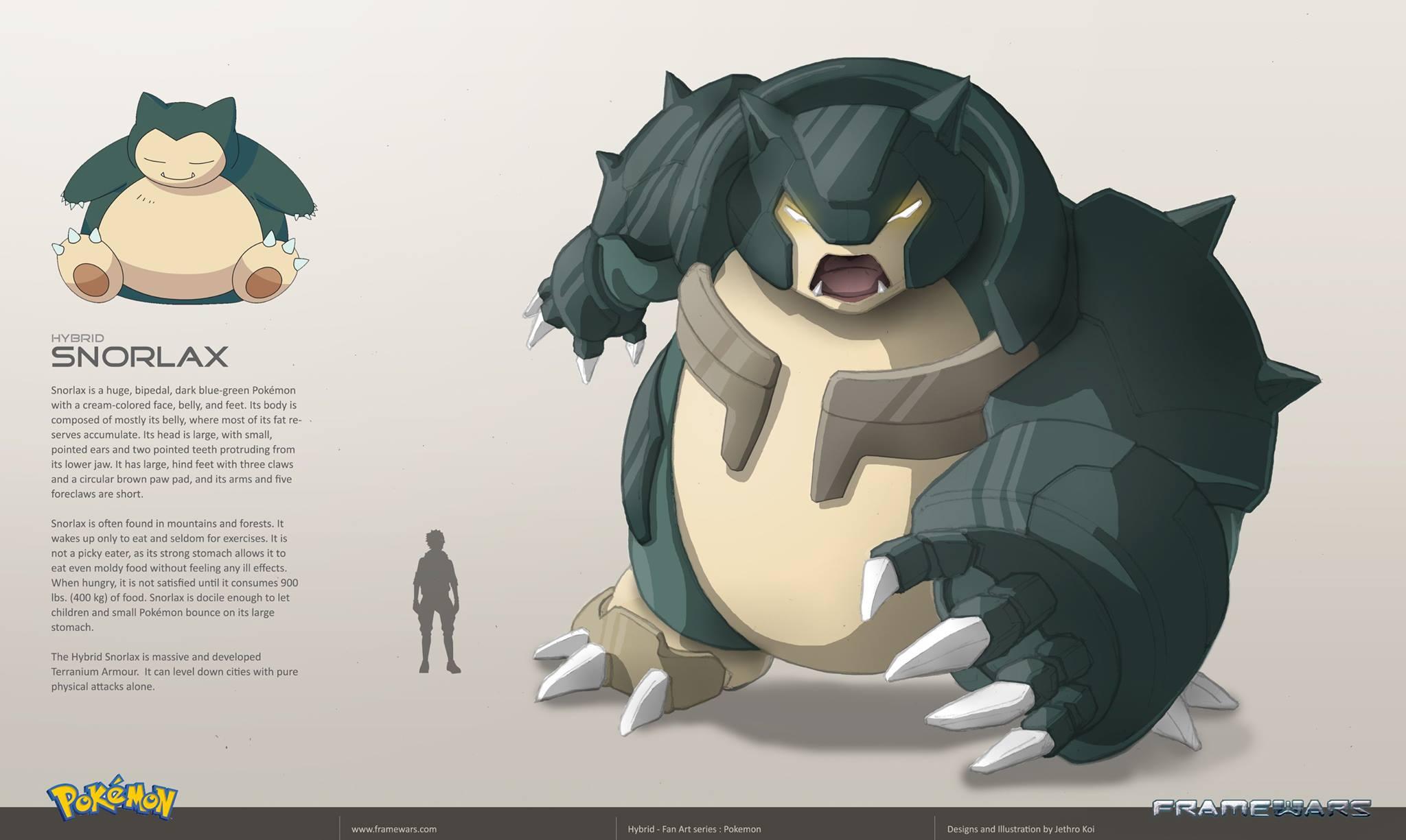 Pokémon Fanart - Metal Hybrid Pokémon Concept Art