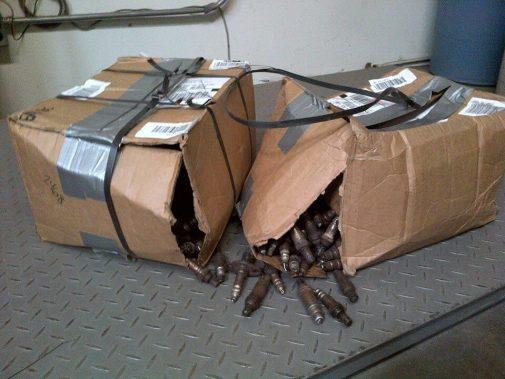 Broken O2 Sensor recycling Boxes