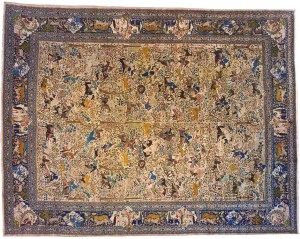 Antique Persian Animal Design Tabriz Carpet, for sale with discount on 1stdibs!