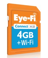 A great gift for grandparents and seniors is the Eye-Fi Connect X2 memory card.