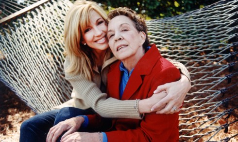 TV star Leeza Gibbons with her mom, Jean.