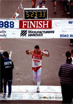 1988 NY Marathon - Bruce at Finish (5)