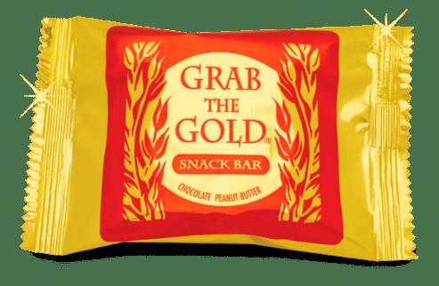 grab the gold snackbar
