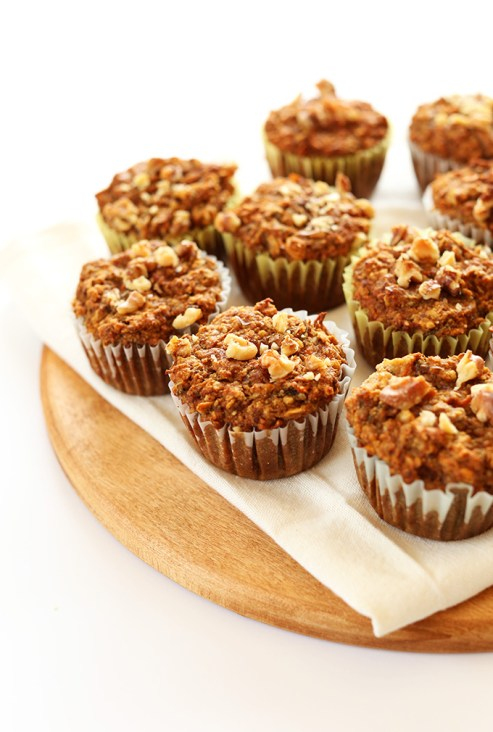 One Bowl Carrot Apple Muffins
