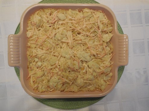 Cauliflower, Artichoke and Leek Casserole with Smoked Gouda (1)