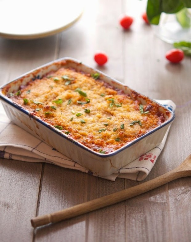 Roasted Eggplant and Tomato Gratin (2)