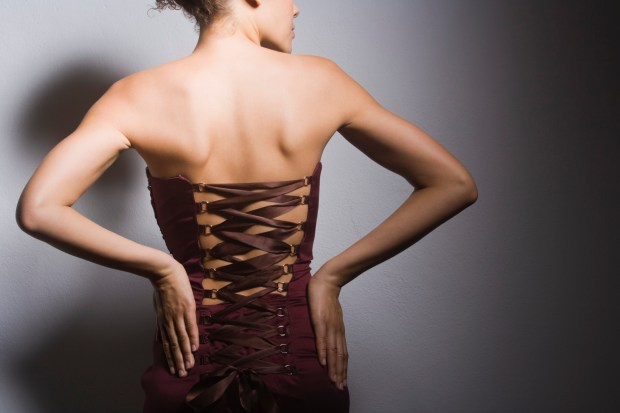Woman wearing a corset
