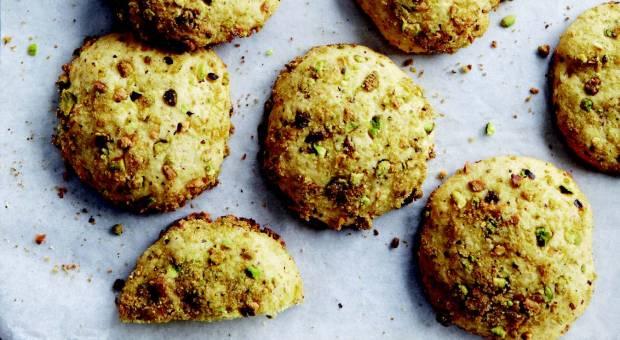 Lemon-Pistachio Button Cookies