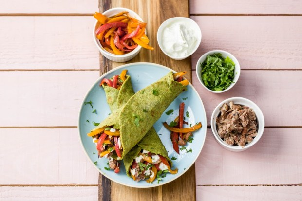 Fiery Pork Fajitas with Blistered Peppers and Guacamole | SpryLiving.com