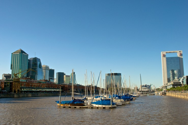 Puerto Madero, the most modern district of Buenos Aires.