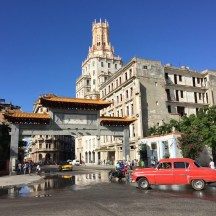 Originally the AT&T tower and now the Cuban telecommunication offices situated in the China town from the American era