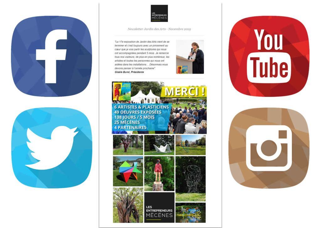 Jardin des arts newsletter social | Stratégie communication web Jardin des Arts