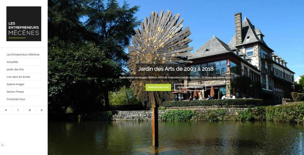 Jardin des arts siteweb | Stratégie communication web Jardin des Arts
