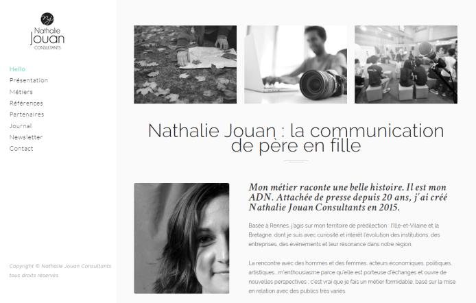 Site web Nathalie Jouan Consultants