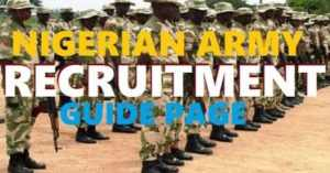 How to Register/Apply for Nigerian Army Recruitment 78RRI 2019