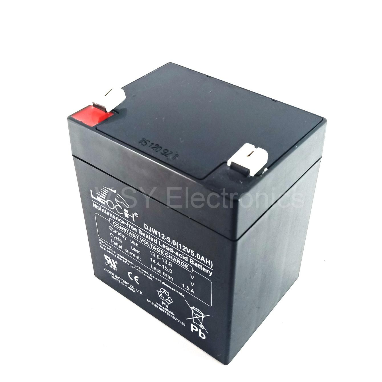hight resolution of leoch 12v 5ah rechargeable sealed lead acid battery for ups solar emergency lights