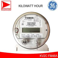 Ge Kv2c Multifunction Meter Fitzall Wiring Diagram Of A Car Starter General Electric Philippines Price List 2 4a 120 480v Kilowatt Hour
