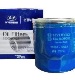 hyundai mobis 26300 02503 oil filter for hyundai accent getz eon i10 [ 1999 x 1696 Pixel ]