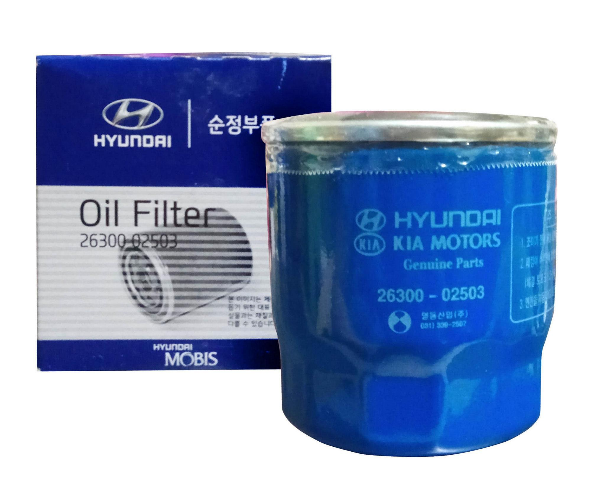 hight resolution of hyundai mobis 26300 02503 oil filter for hyundai accent getz eon i10