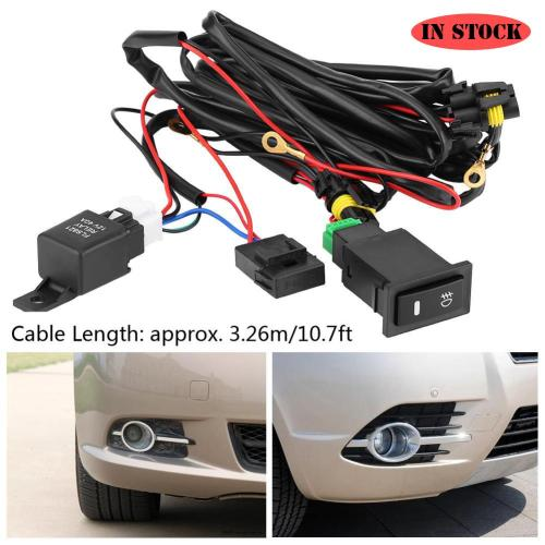 small resolution of 12v universal car led fog light on off switch wiring harness fuse relay kit