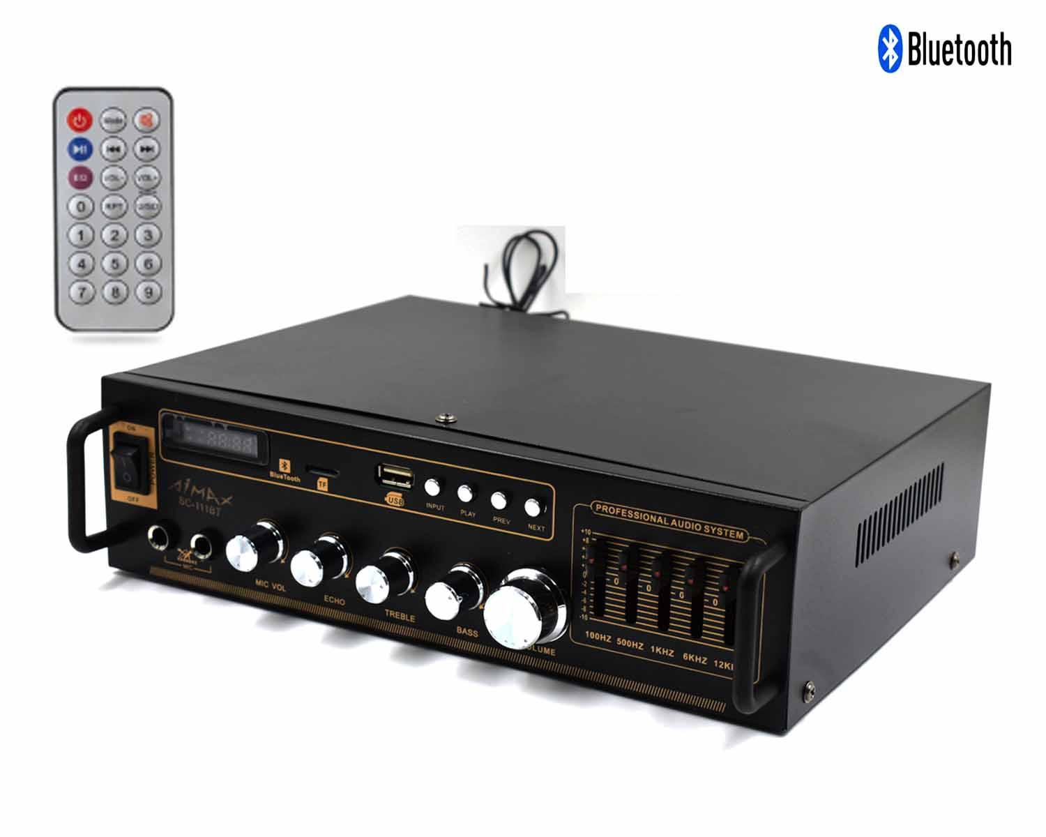 hight resolution of sc 111bt amplifier bluetooth radio iso connector with remote control