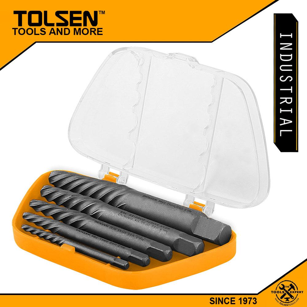 hight resolution of tolsen industrial 5pcs screw extractor set size 1 2 3