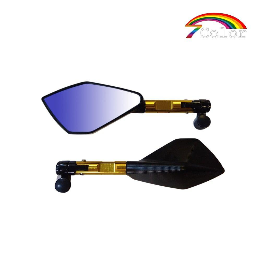 hight resolution of 7 color s universal racing motorcycle blue glass side mirror 3t01 gold